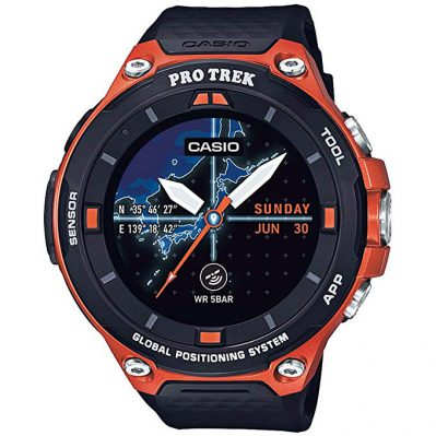 Casio Men's 'Pro Trek' Resin Outdoor Smartwatch