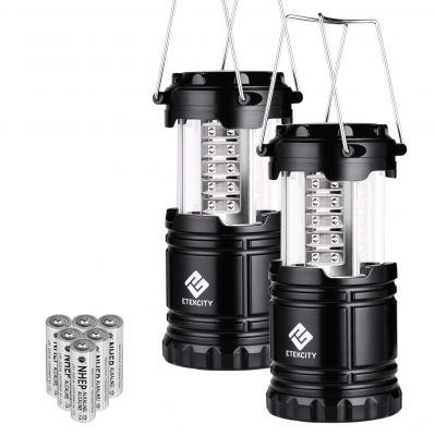 Etekcity 2 Pack Portable LED Camping Lantern Flashlights