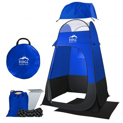 Ridge Outdoor Gear 6.5ft Pop Up Changing Shower Privacy Tent