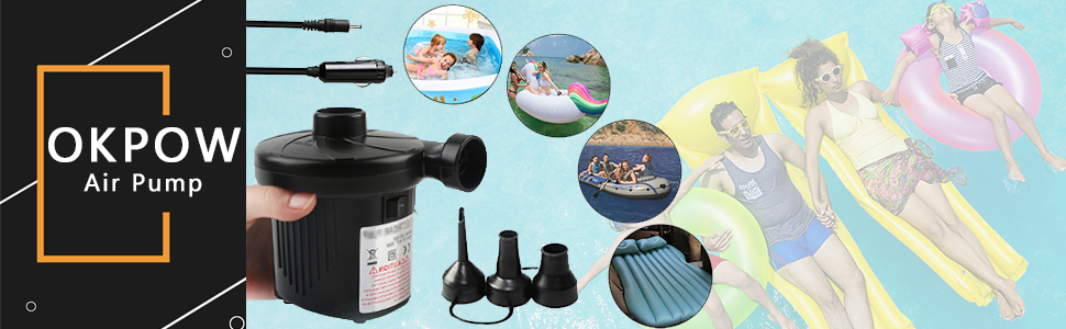 OKPOW Air Pump for Inflatables