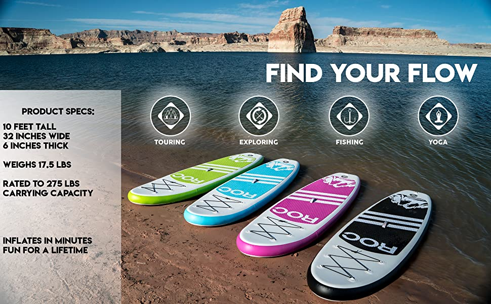 Roc Inflatable Stand Up Paddle Boards